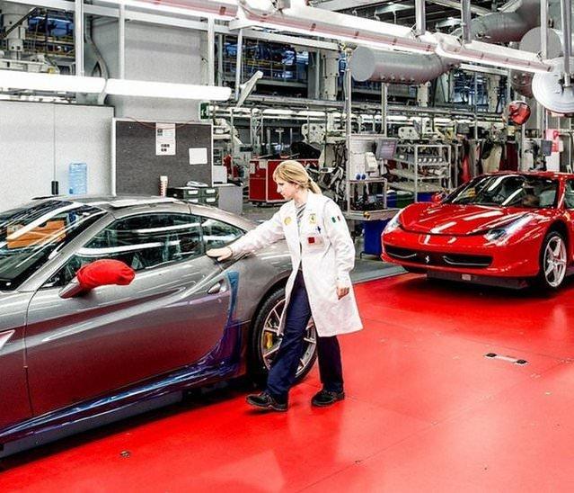 Ferrari'nin fabrikası görüntülendi