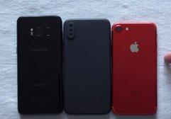 iPhone 8 maketi Galaxy S8 ve iPhone 7'le karşılaştırıldı