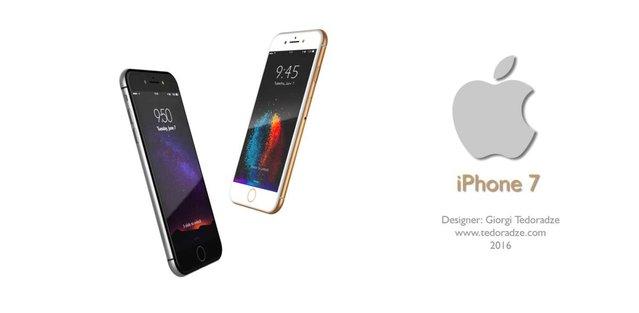 Lightning Earpods kulaklıklara sahip iPhone 7 konsepti