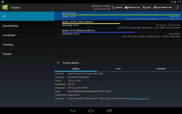 Android için en iyi Torrent uygulamaları