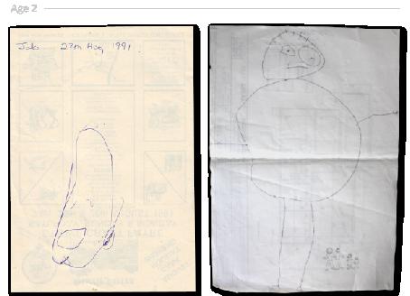 Bir ressamın 2 yaşından 24 yaşına kadar çizimleri