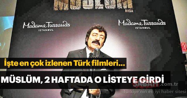Müslüm filmi 2 haftada listeye girdi! (En çok izlenen Türk filmleri)