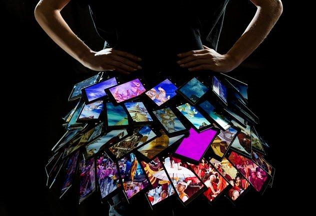 Lumia 1520 ile yapılmış özel elbise