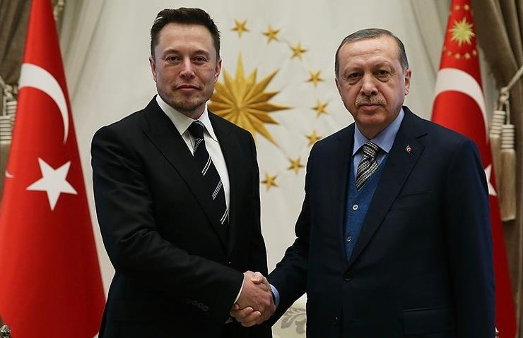 CUMHURBAŞKANI ERDOĞAN, ELON MUSK'I KABUL ETTİ