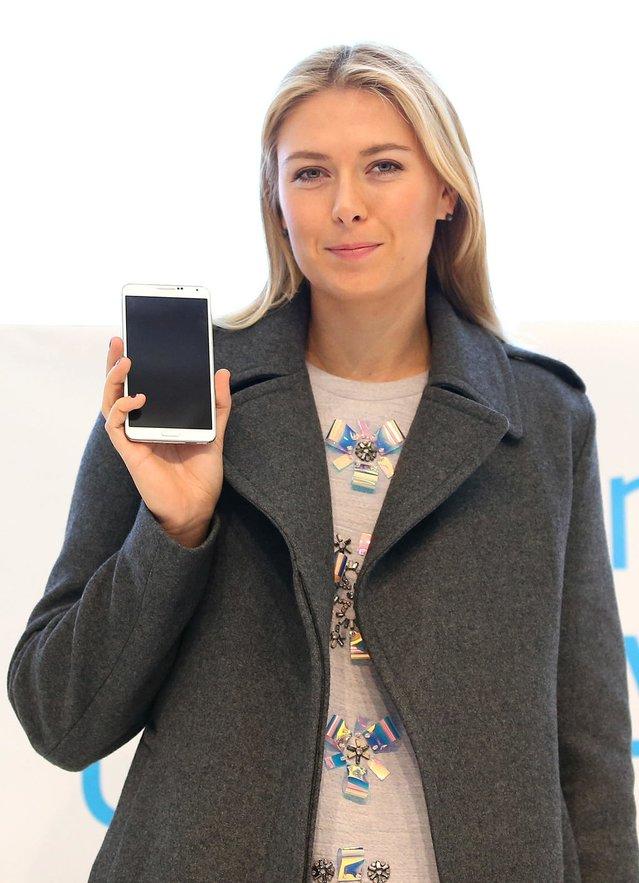 Maria Sharapova, Soçi'de Galaxy Studio açılışına katıldı