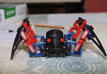 Öğrencilerin yaptığı robot örümcek büyük ilgi gördü