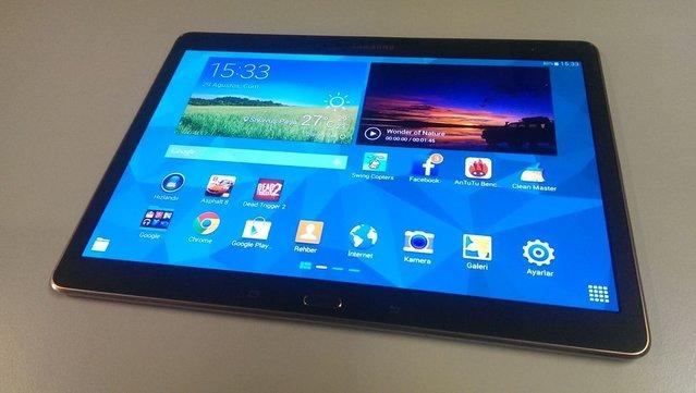 Samsung Galaxy Tab S 10.5'in fotoğrafları