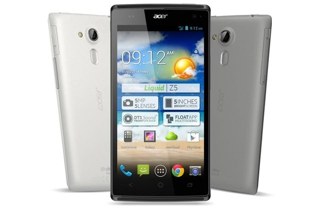 Android'li Acer Liquid Z5 duyuruldu!