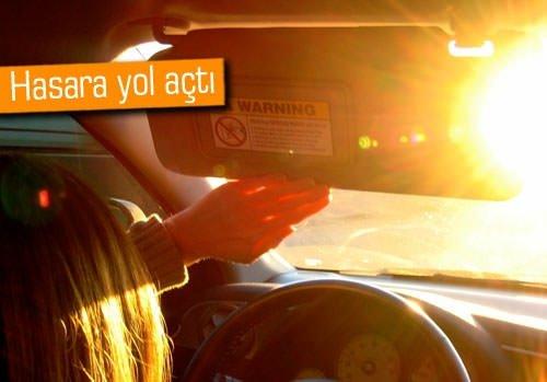 Araba sıcaktan eridi!