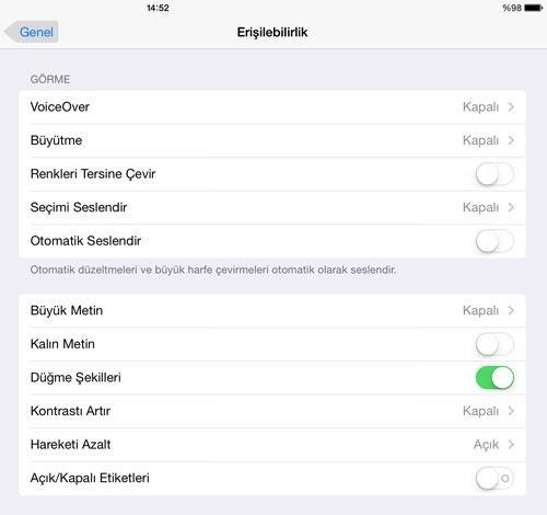 iOS 7 ipuçları