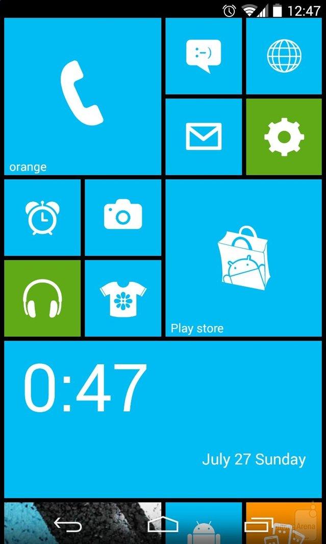 Android'li telefonunuz Windows Phone 8'li gibi gözüksün ister misiniz?