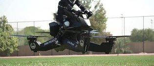 Uçan motosikletli polisler geliyor!