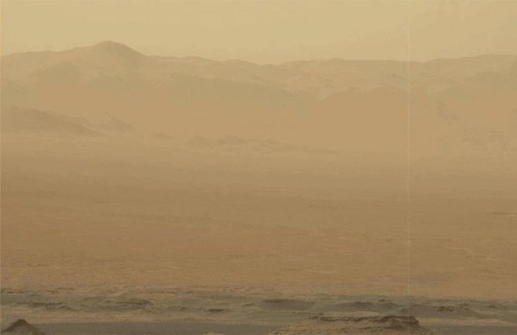 Mars'taki dev toz fırtınası tüm gezegeni kapladı
