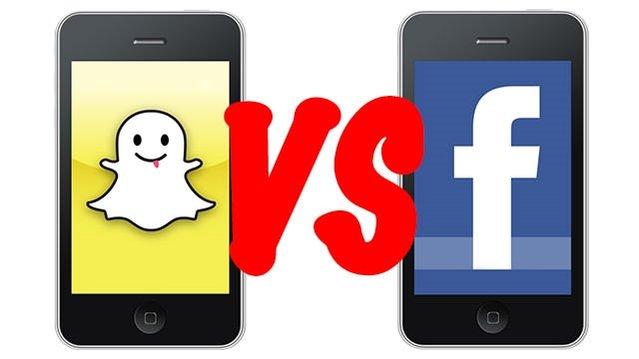 İnfografiklerle Facebook ile Snapchat karşılaştırması