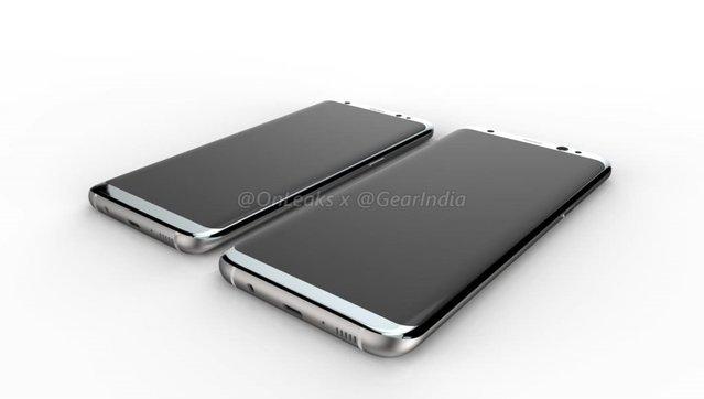 Samsung Galaxy S8 ve S8 Plus'ın detaylı render görselleri