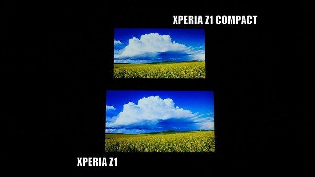 Ekran karşılaştırması: Xperia Z1 vs Xperia Z1 Compact