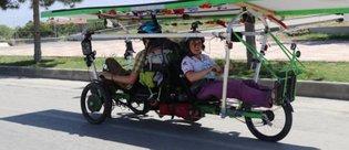 Fransa'dan Erzincan'a Güneş enerjili bisikletle geldi