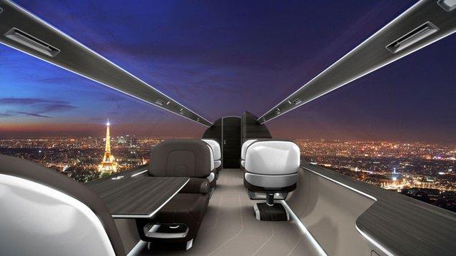 Cam kaplı bir uçakta uçmak nasıl olurdu?