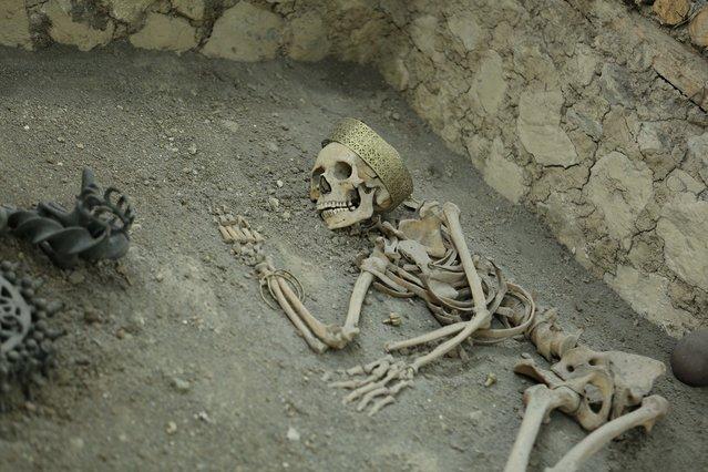 4500 yıllık iskeletlerde ne bulundu?