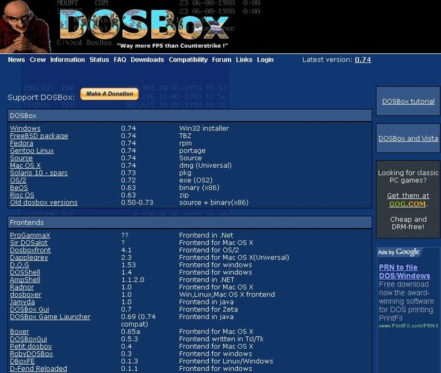 DOS oyunlarını hala oynayabilirsiniz