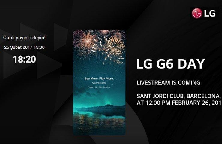 LG G6 TANITILIYOR! (CANLI İZLEYİN)