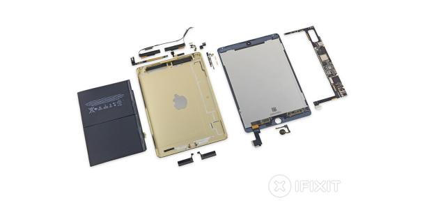 iPad Air 2'nin içini söktüler