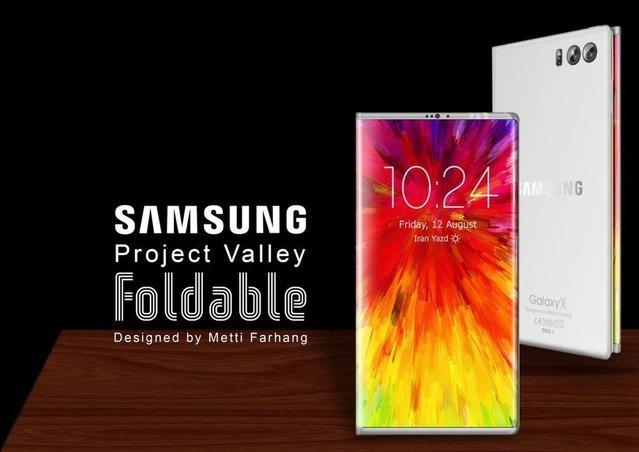 Samsung'un katlanabilir telefonu böyle olabilir mi?