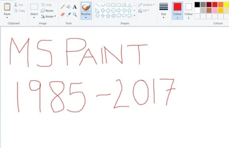 Microsoft Paint'e 32 yıl sonra elveda deme vakti!