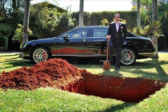 Bentley'ini gömmeyi planlayan adamın gerçek niyeti
