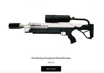 Elon Musk, alev silahını satışa sundu! İşte fiyatı