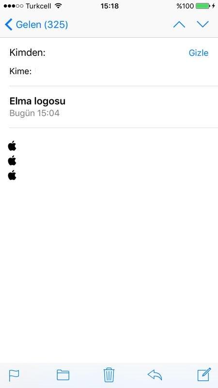 iOS klavyesinde Apple logosu nasıl çıkartılır?