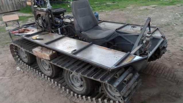 Kullanılmayan malzemelerden tank yaptı