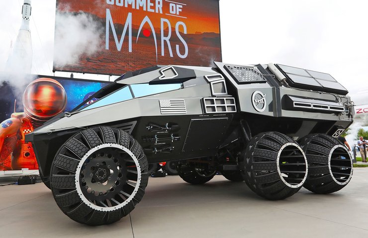 NASA'NIN MARS 2020 KONSEPT ARACI BATMOBİLE'E BENZİYOR