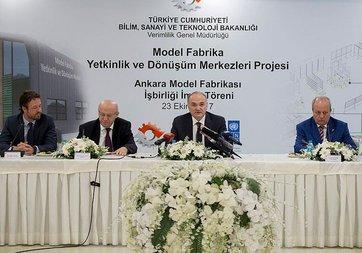 Türkiye'nin ilk model fabrikası Ankara'da kuruluyor
