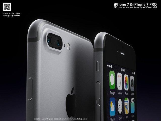 iPhone 7 ve iPhone 7 Pro'nun 3 boyutlu görselleri