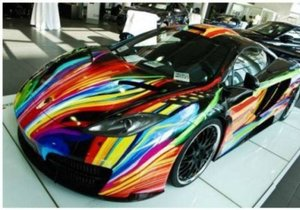 Pahalı otomobillere ilginç boyalar